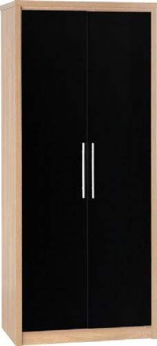 Seville 2 Door Wardrobe BLACK